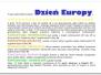 Dzień Europy - maj 2014