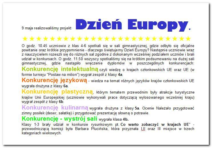 Galeria: Dzień Europy - maj 2014