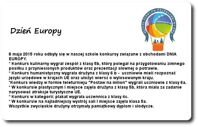 Galeria: Dzień Europy - maj 2015