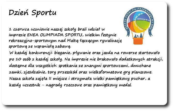 Galeria: Dzień Sportu - czerwiec 2015