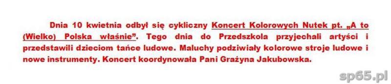 """Galeria: Koncert Kolorowych Nutek pt. """"A to (Wielko) Polska właśnie"""" - kwiecień 2014"""