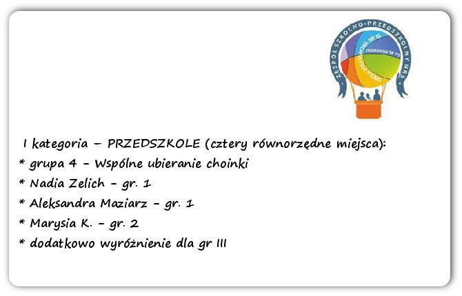 Galeria: Konkurs plastyczny Moja szkoła - grudzień 2014