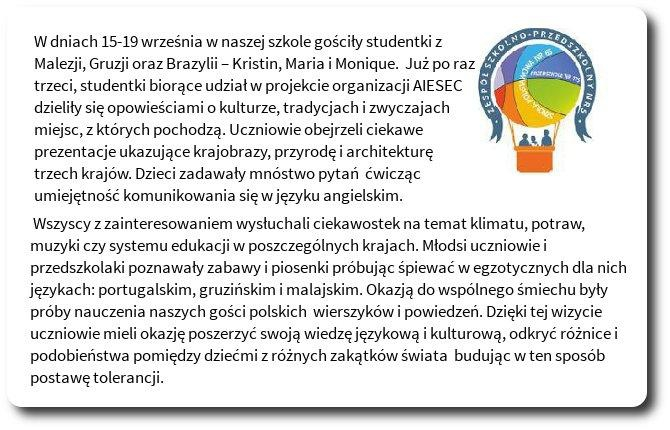 Galeria: Projekt AIESEC - wrzesień 2014