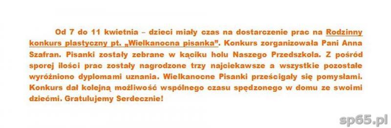 """Galeria: Rodzinny konkurs plastyczny pt. """"Wielkanocna pisanka"""" - kwiecień 2014"""