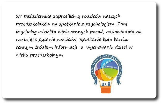 Galeria: Spotkanie z psychologiem - październik 2014