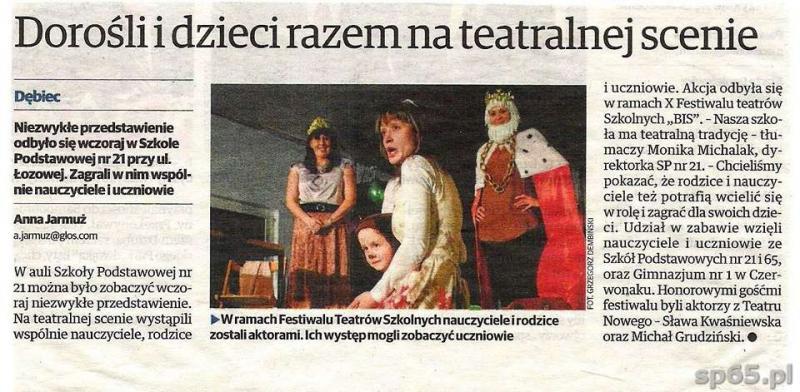 """Galeria: X Festiwal Teatrów Szkolnych """"BIS - marzec 2014"""