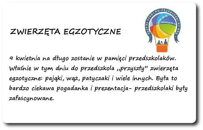 Galeria: Z życia przedszkolaków - kwiecień 2015