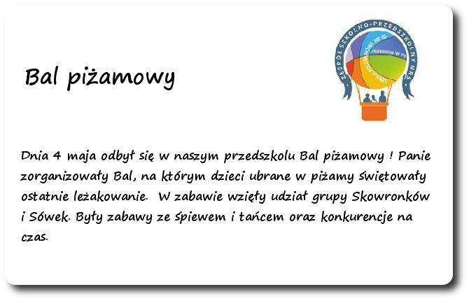 Galeria: Z życia przedszkolaków - maj 2015